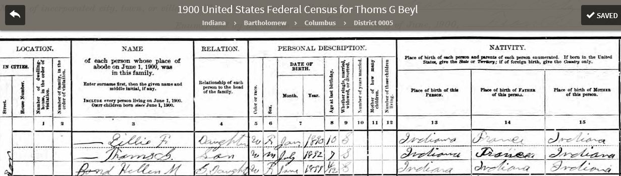 LFB 1900 US Federal Census - 3