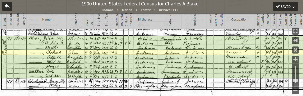 CAB 1900 US Federal Census