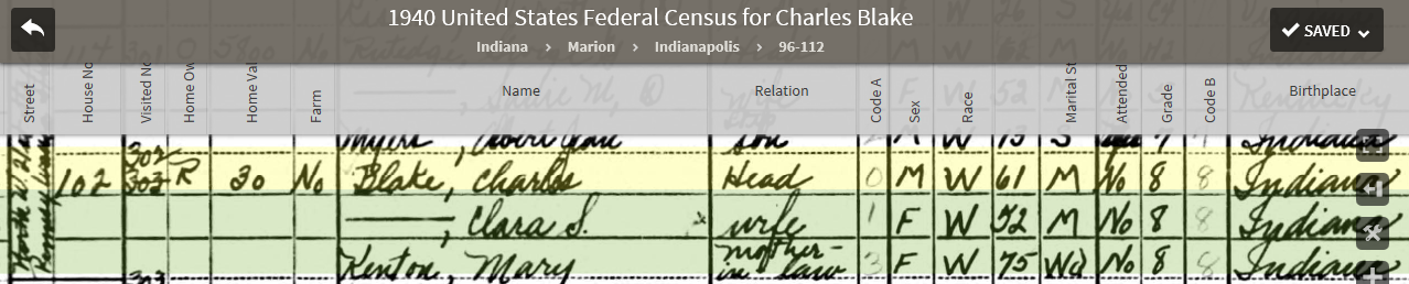 CAB 1940 US Federal Census