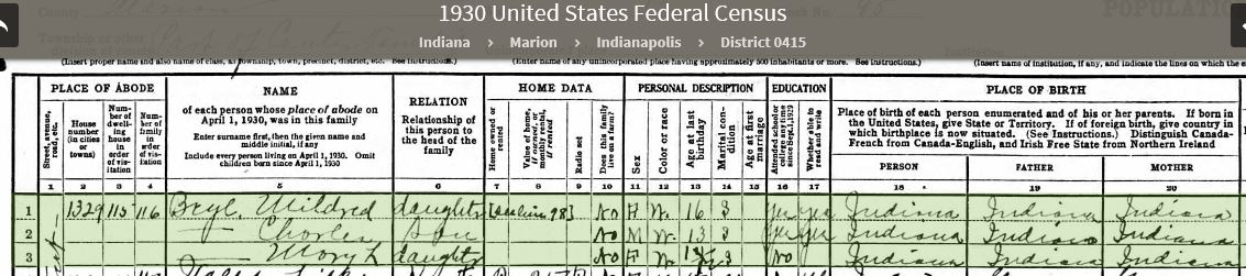 EMA 1930 US Federal Census - 2