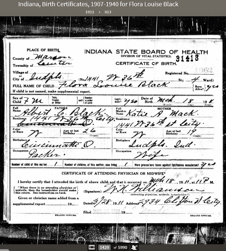 FLB13 Birth Certificate