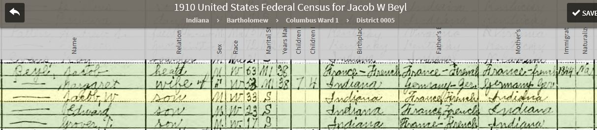 JWBJ 1920 United States Federal Census