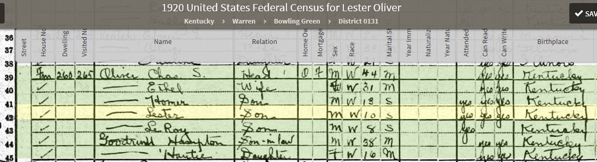 LOO12 1920 US Federal Census