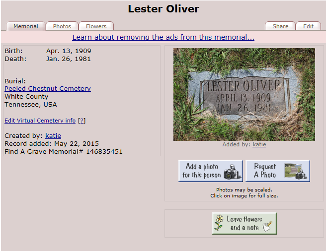 LOO12 1981 US Find A Grave Index 1600s-Current