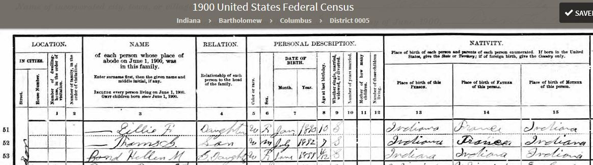 MEB 1900 United States Federal Census - 2