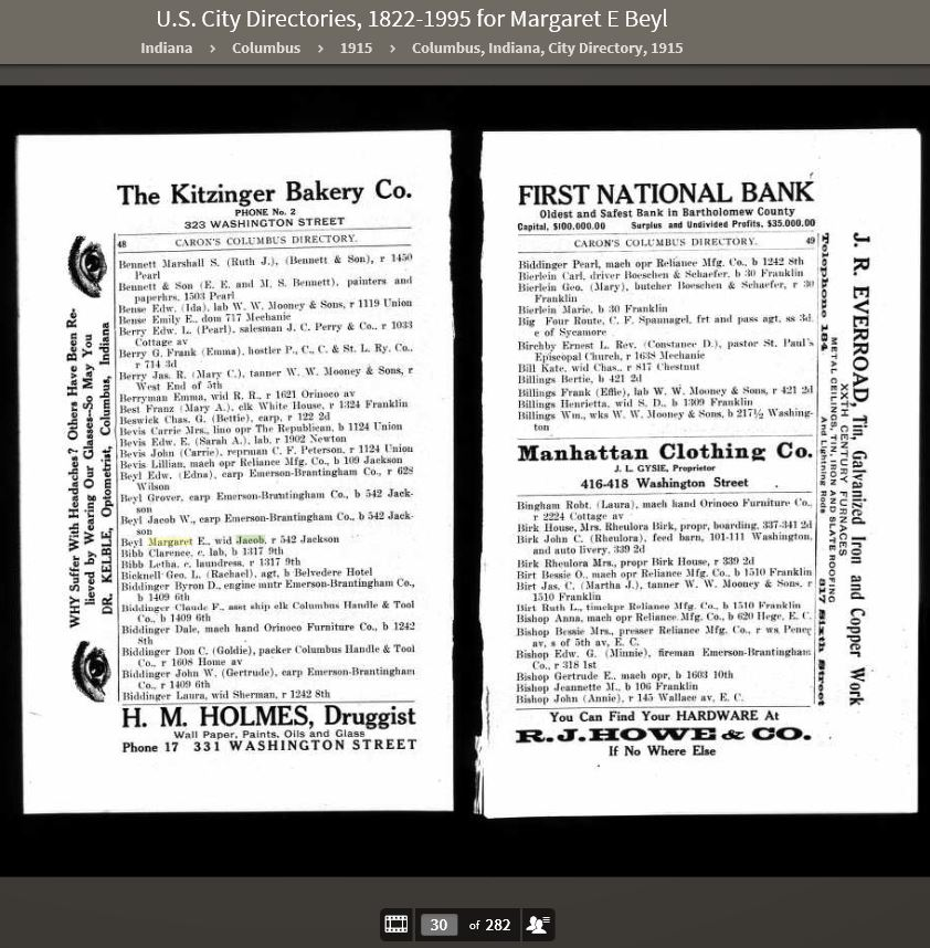 MEK 1915 US City Directories 1822-1995