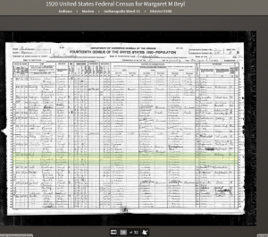 MLB 1920 Census Record
