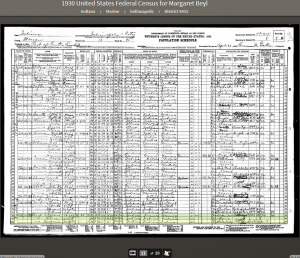 MLB 1930 Census Record