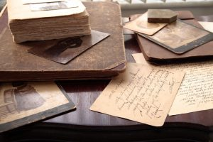 Old Books, Letters, and Photos