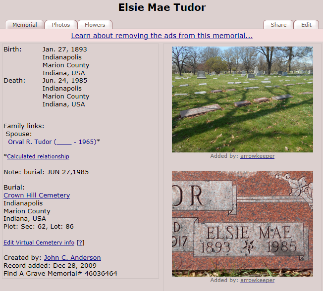1985 U.S., Find A Grave Index, 1600s-Current