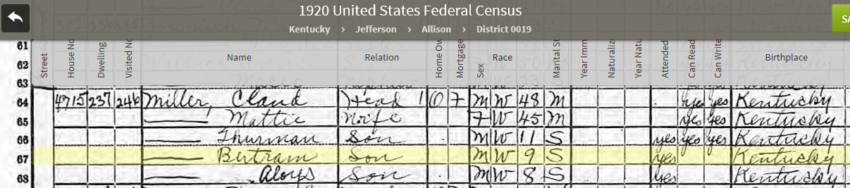CBM113 1920 US Federal Census