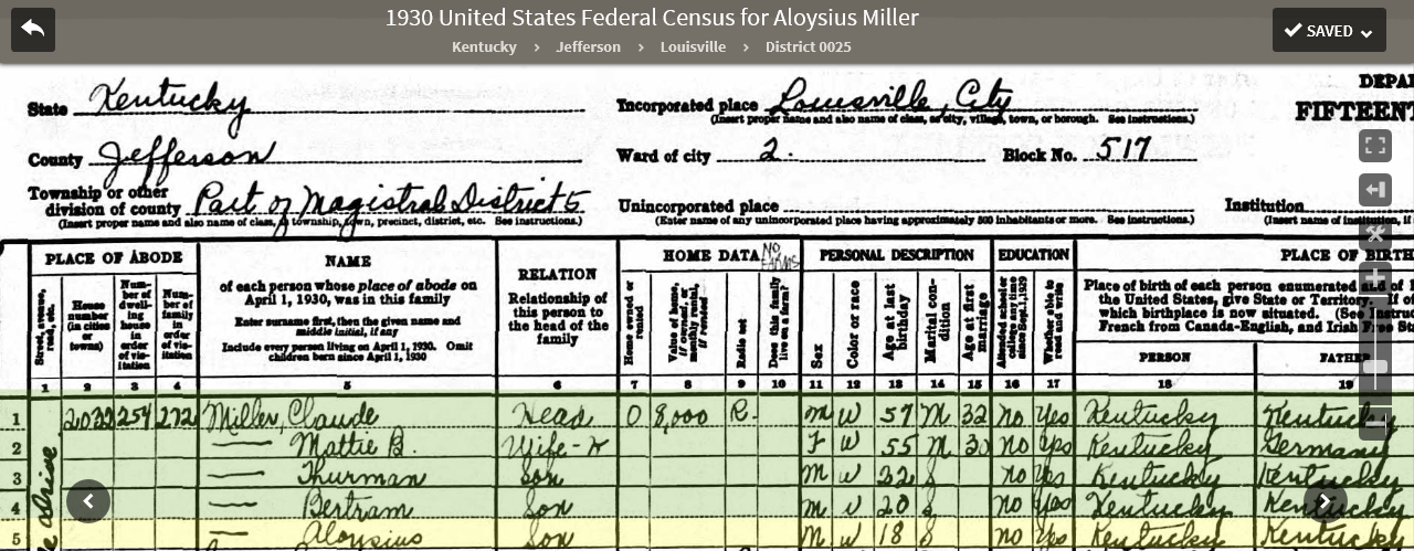 LAMS 1930 US Federal Census