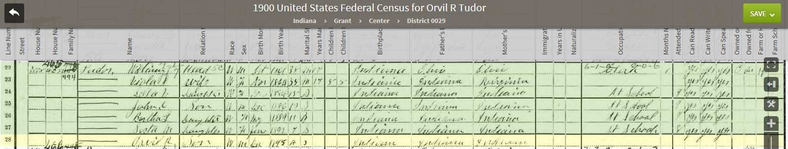 ORT 1900 US Federal Census