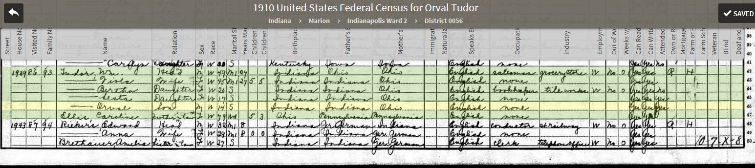ORT 1910 US Federal Census