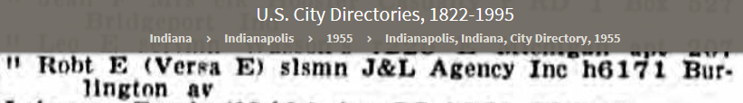 REL 1955 U.S. City Directories